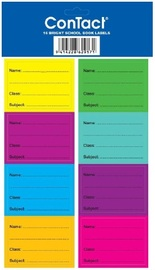 Contact Book Labels Coloured - Pkt 16