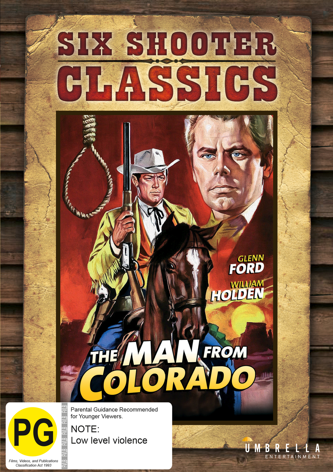 The man from Colorado Glenn Ford vintage movie poster