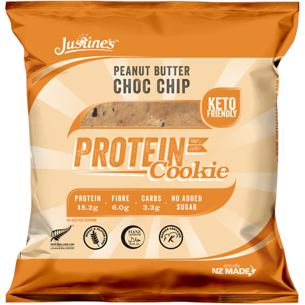 Justine's Protein Cookies - Peanut Butter Chocolate Chip (Box of 12)