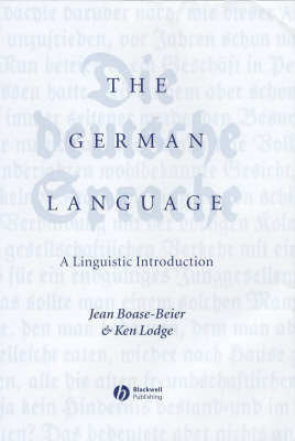 The German Language by Jean Boase-Beier image