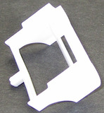 Scalextric Rear wing for Start Open Wheel F1 1/32 Slot Cars - White