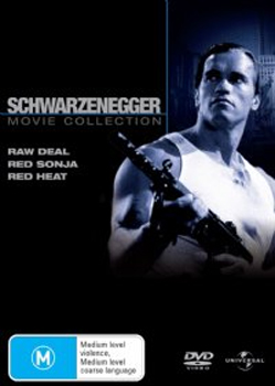 Schwarzenegger Collection (Raw Deal / Red Sonja / Red Heat - 3 DVD Movie Pack) (3 Disc Set) on DVD image