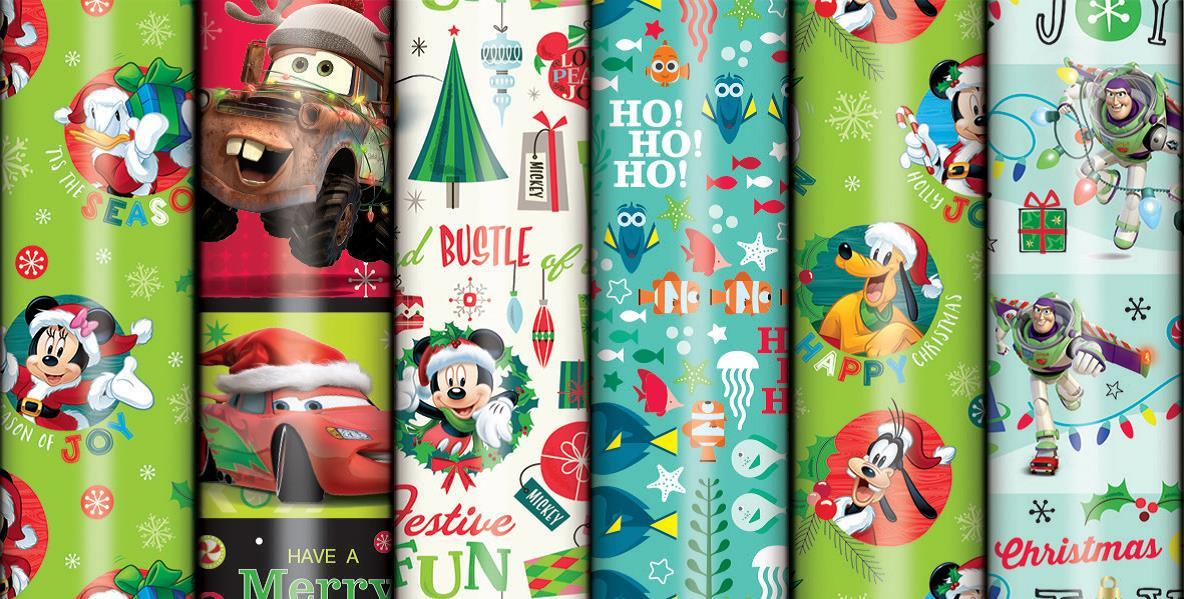 Disney Christmas Wrapping Paper (Boy, 2m Roll) image