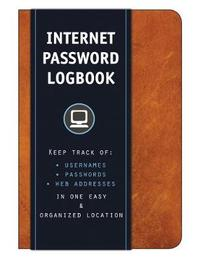 Internet Password Logbook (Cognac Leatherette) by Editors of Rock Point
