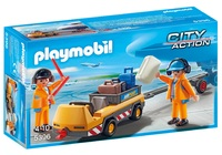 Playmobil: City Action - Airport Tug with Ground Crew image