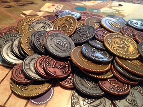 Viticulture: Metal Lira Coins - Game Accessory image