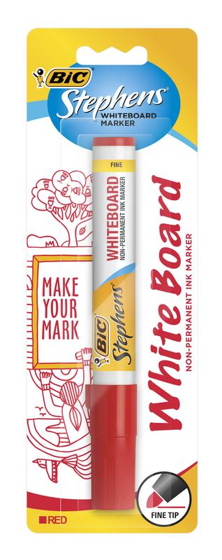 Bic: Whiteboard Marker - Fine Tip Red (Single)