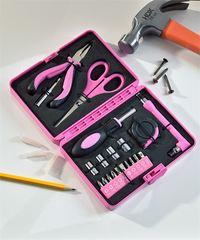 20 Piece Carbon Steel Tool Kit (Pink)