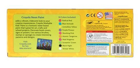 Crayola: Washable Neon Paint Pack - 10 Colours image