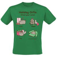 Pusheen Holiday Gifts T-Shirt (Large)