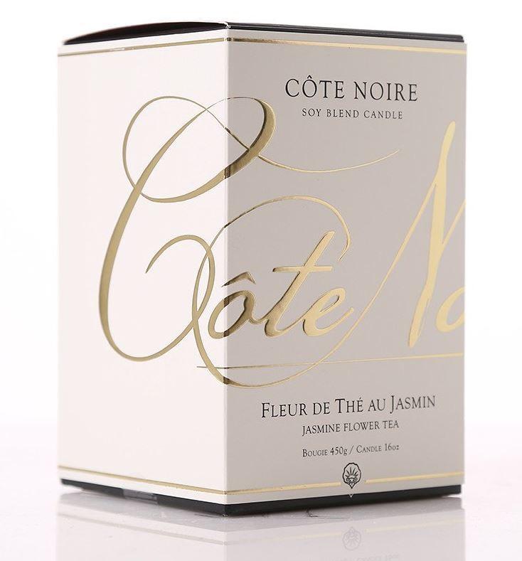 Cote Noire Large Soy Blend Candle Fleur De The Au Jasmin Jasmine