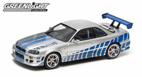1/43: 1999 Nissan Skyline GT-R (Brians) - 2 Fast 2 Furious - Diecast Model image