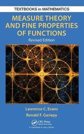 Measure Theory and Fine Properties of Functions, Revised Edition by Lawrence Craig Evans
