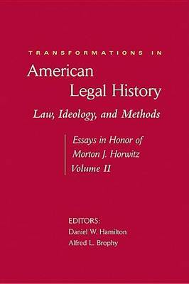 Transformations in American Legal History: No. 2 image