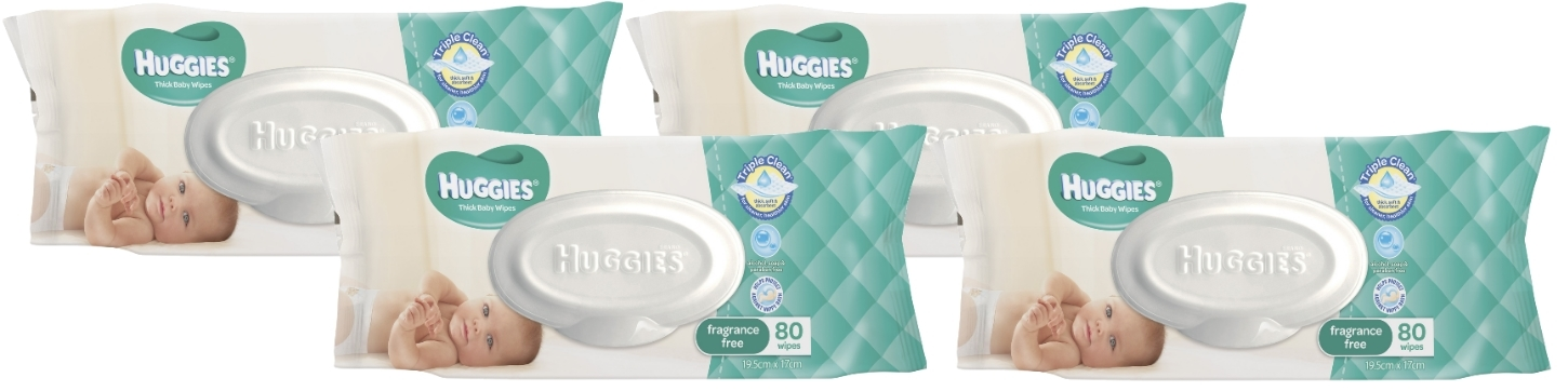 Huggies Baby Wipes Refill Shipper Pack - Fragrance Free (320 Wipes) image
