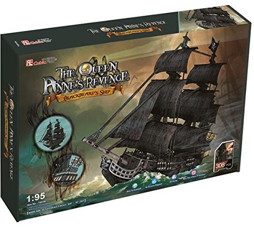 Cubic Fun: The Queen Anne's Revenge - Blackbeards Ship - 308 Piece 3D Puzzle image