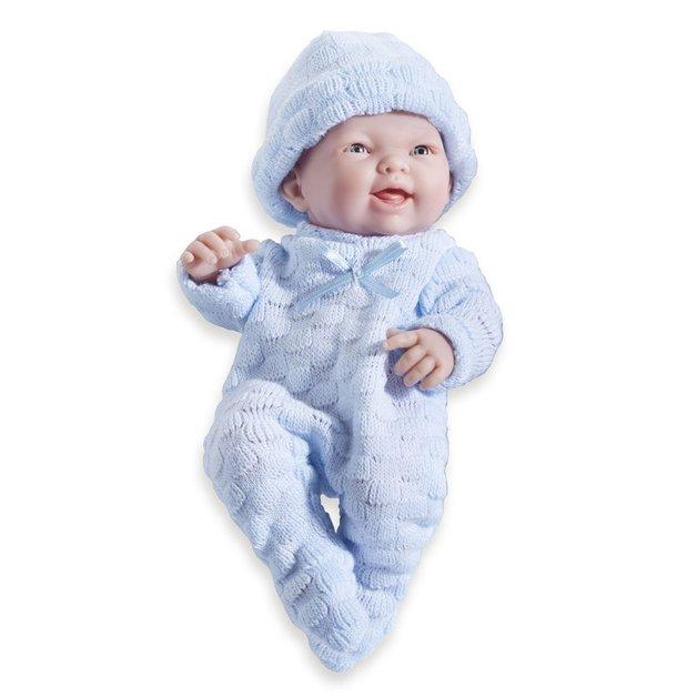 Mini La Newborn: Real Boy Baby Doll - Blue (24cm)