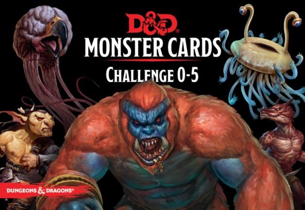 D&D Spellbook Cards Monster Deck 0-5 (179 cards)
