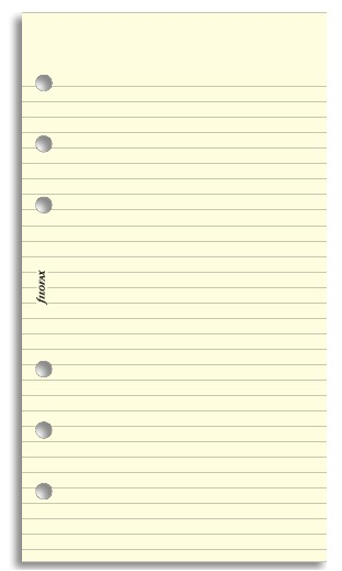 Filofax - Personal Lined Notepaper - Cotton Cream (30 Sheets)