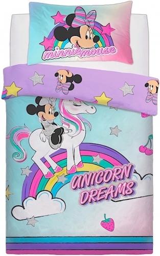 Disney: Reversible Duvet Cover Bedding Set - Minnie Mouse Unicorn Dreams (Single)