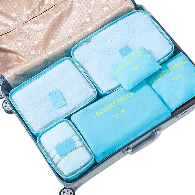 Jet Set 6-Piece Travel Organiser Set - Aqua