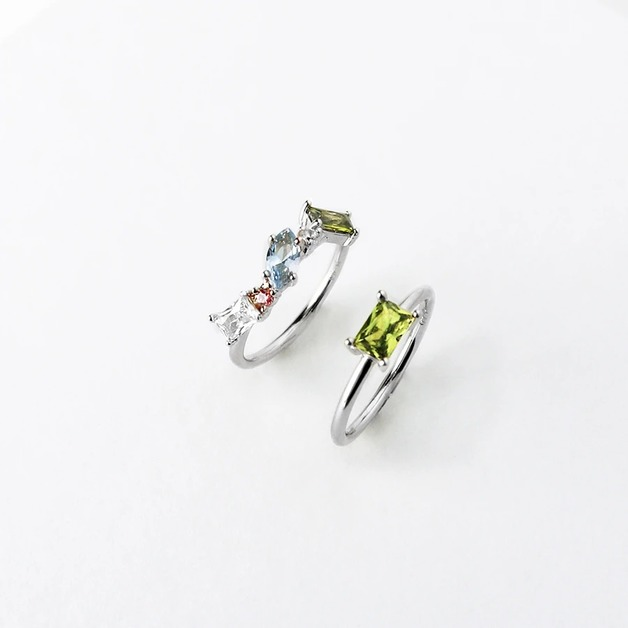 Wanderlust + Co: Kaia Silver Ring Set - Size 7