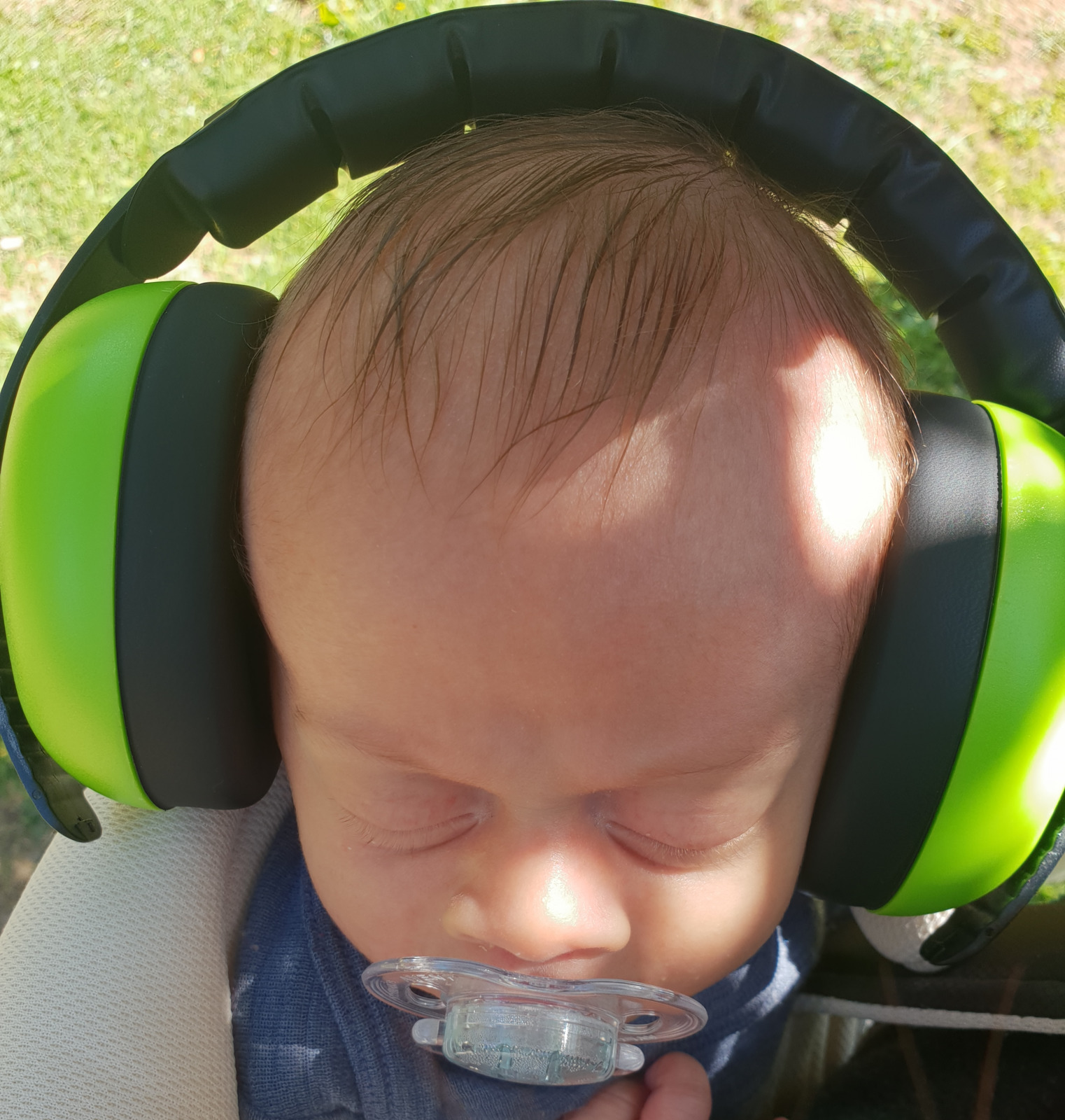 Baby Earmuffs - Lime Green (0-2 Years) image