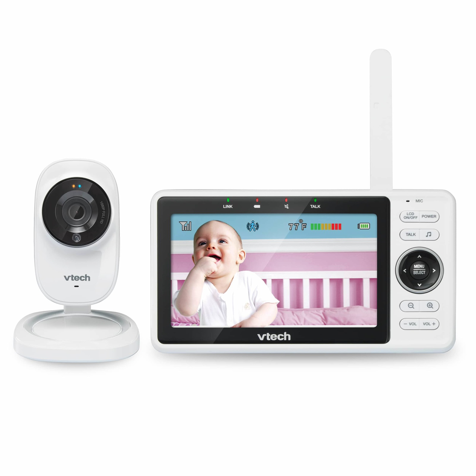 VTech: Safe and Sound Wi-Fi 1080p HD Video Baby Monitor With Remote Access image
