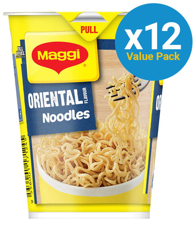Maggi 2 Minute Cup Noodles - Oriental (58g x 12 Packs)