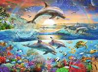 Ravensburger: 300 Piece Puzzle - Dolphin Paradise