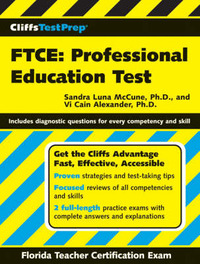CliffsTestPrep FTCE: Professional Education Test by Sandra Luna McCune image