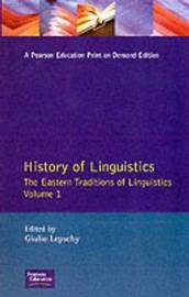 History of Linguistics Volume I by Giulio C. Lepschy image