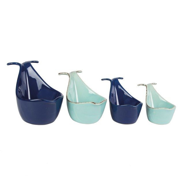 Blue Whale Measuring Cups (Set Of 4)