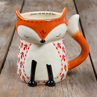 Natural Life: Ceramic Folk Mug - Wherever Fox