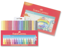 Faber-Castell: Grip Markers (24 Pack + Bonus Art Pad)