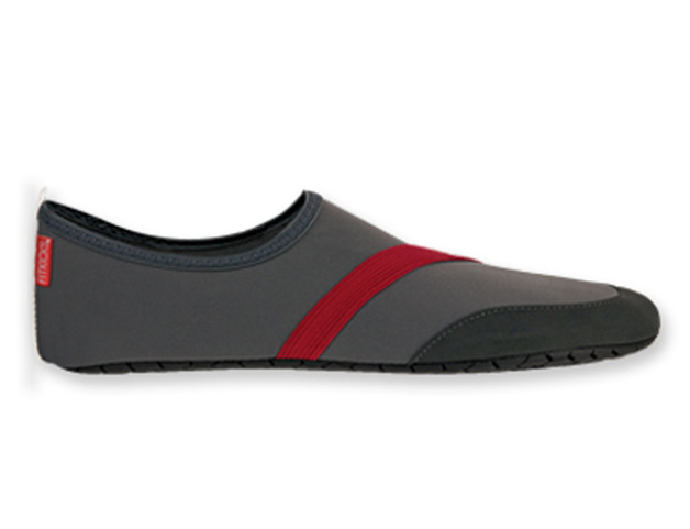 Fitkicks: Mens Foldable Footwear - Gray (Medium)