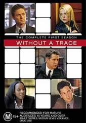 Without A Trace - Complete Season 1 (4 Disc Box Set) on DVD