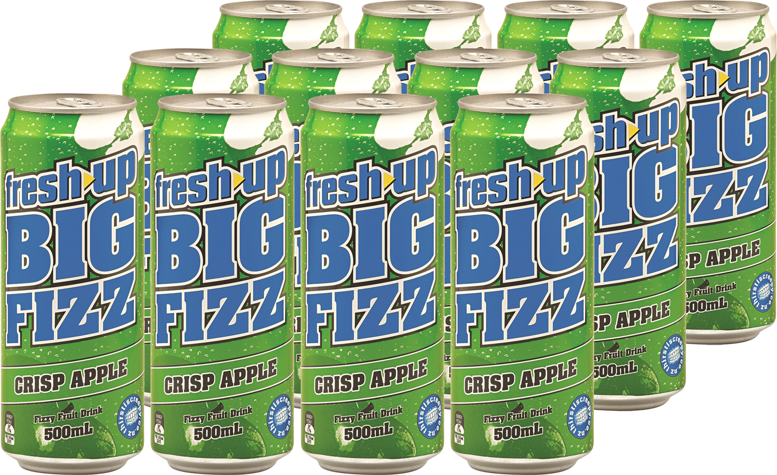 Fresh Up Big Fizz Crisp Apple 500ml x12 image