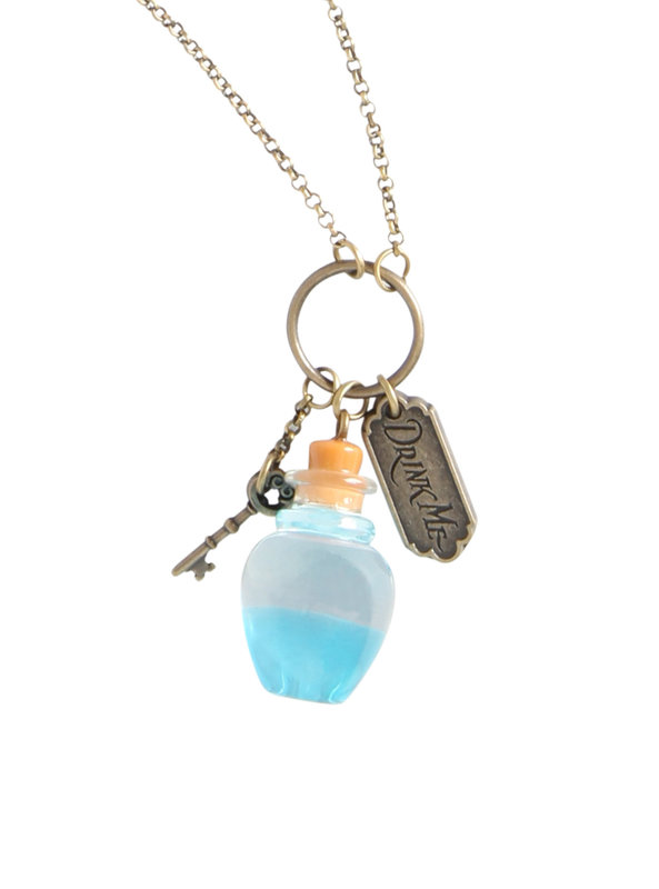Neon Tuesday: Alice In Wonderland - Curiouser Bottle Necklace