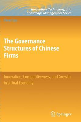 The Governance Structures of Chinese Firms by Chun Liao image