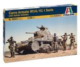 Italeri: 1/35 Carro Armato M14/41 W/ Infantry - Model Kit