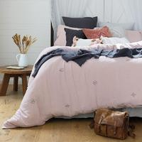 Bambury King Embroidered Quilt Cover Set (Ana)