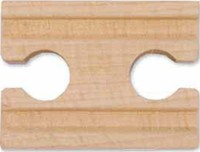 Melissa & Doug: 50mm Wooden Straight Track Female - 6 Pack