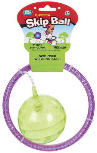 Toysmith: Flashing Skip Ball - Purple