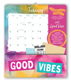 Good Vibes Pockets Plus 2018 Wall Calendar