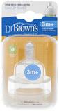 Dr Brown's Wide Neck Level 2 Teats - 2 Pack