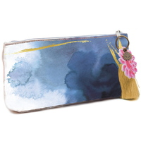 Papaya Small Cosmetics Bag - Indigo Watercolour