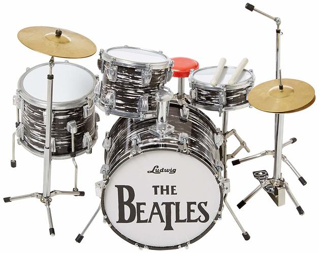 Axe Heaven: Miniature Replica - Ringo Starr Drum Set (Classic Oyster)