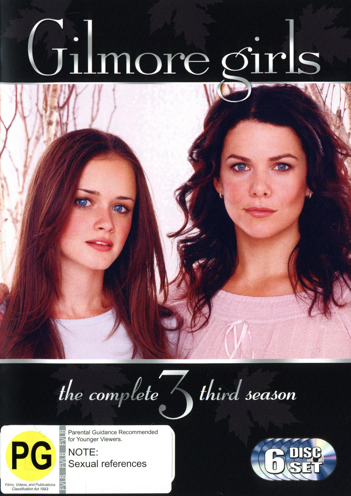 Gilmore Girls - The Complete Third Season (6 Disc Set) (New Packaging) on DVD image