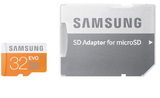 32GB Samsung Evo - MicroSDHC Card with SD Adapter (Class 10 UHS-I)